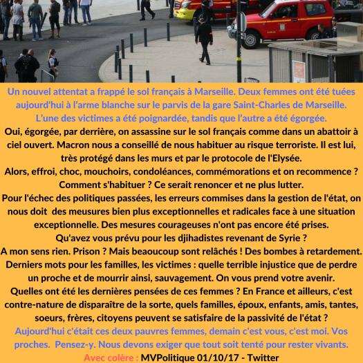 Un nouvel attentat a frappé le sol français à MarseilleDeux femmes ont été tuées à l'arme blanche sur le parvis de la gare Saint-Charles de Marseille. L'une des victimes a été poignardée, tandis que l'autre a été ég.png